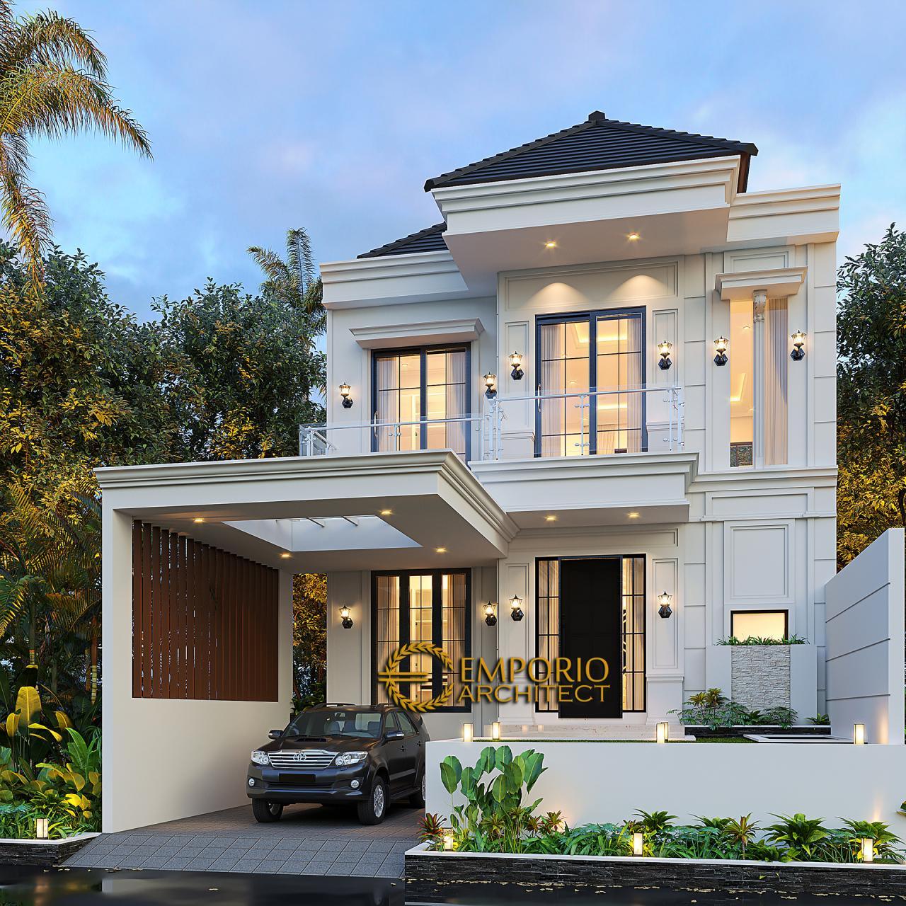 Desain Rumah Klasik 2 Lantai Bapak Dicky di Bontang, Kaliman