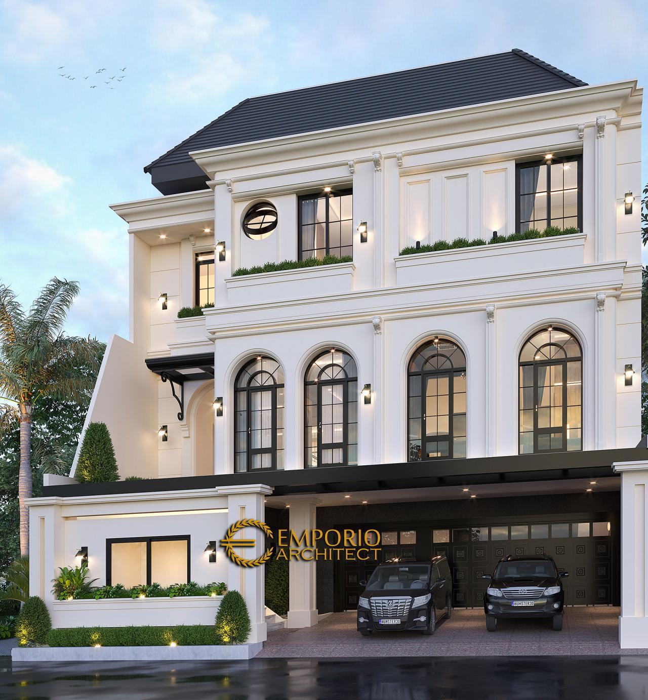 Desain Rumah Mediteran 3 Lantai Bapak Gilang Dirga dan Ibu Adiezty Fersa di Bekasi, Jawa Barat