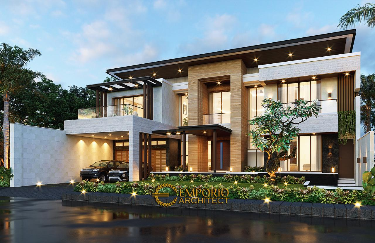 Desain Rumah Modern 2 Lantai Bapak Didi di Palembang