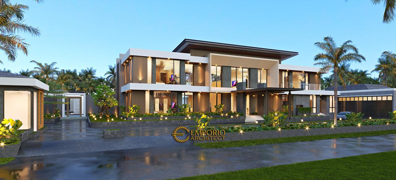 Desain Rumah Modern 2 Lantai Bapak Ade di Manado, Sulawesi Utara