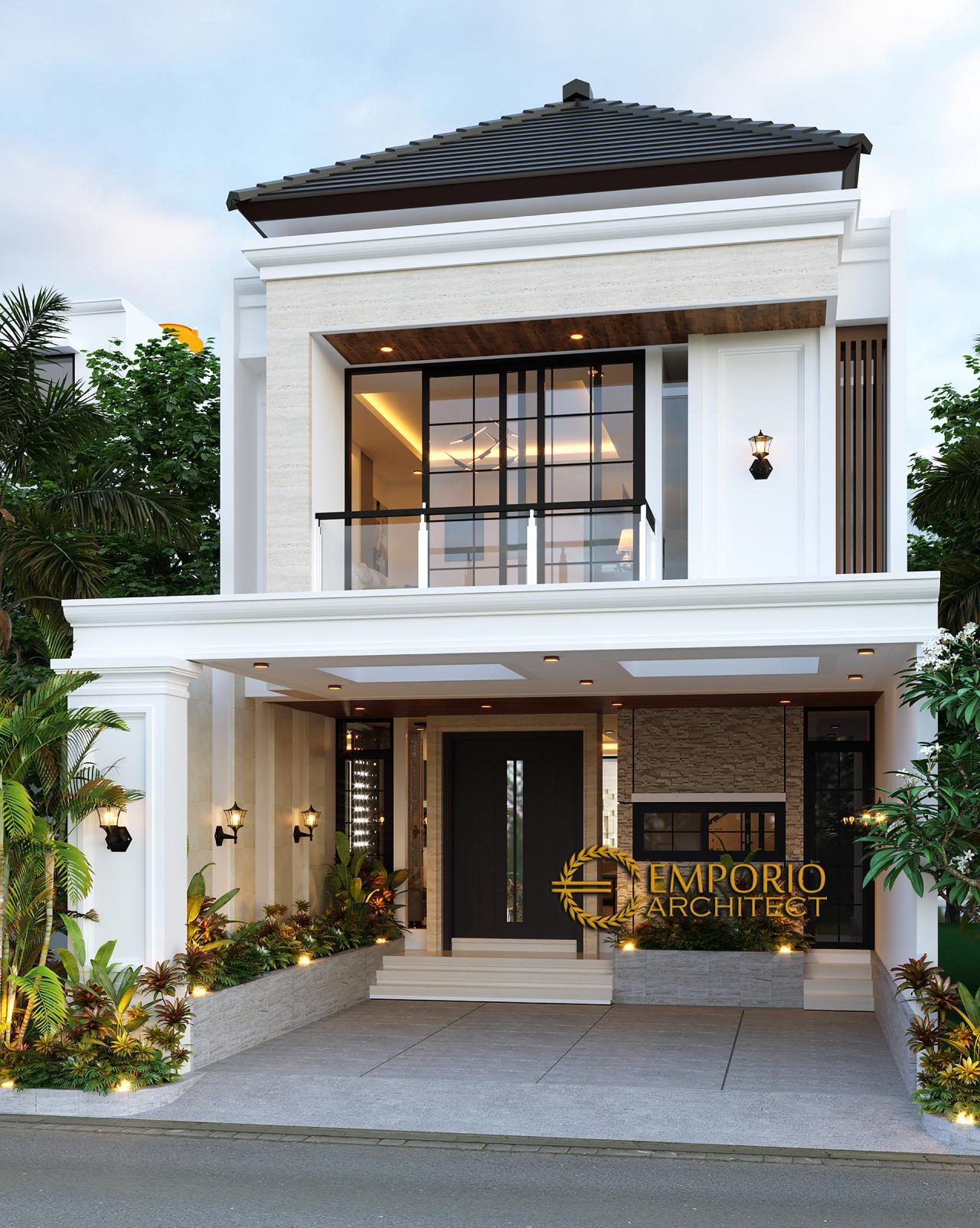 Desain Rumah Modern Classic 2 5 Lantai Bapak Dwi Di Jakarta Selatan