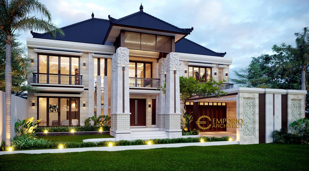 Desain Rumah Villa Bali 2 Lantai Ibu Widi di Bandung, Jawa Barat