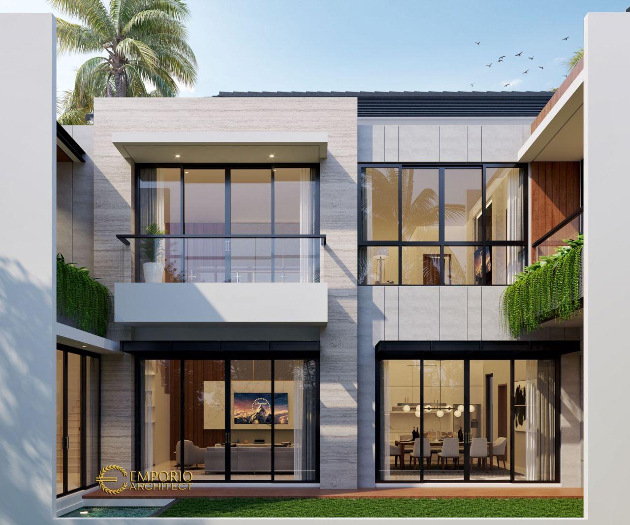 Desain Rumah Modern 2.5 Lantai Ibu Jeanette di Bogor, Jawa ...