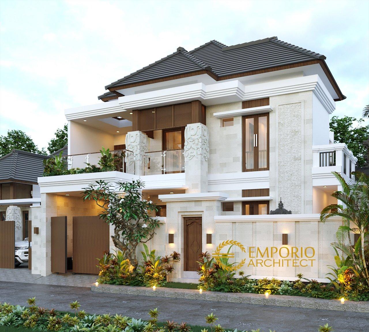 Desain Rumah Villa Bali 2 Lantai Bapak Ketut Berana Di