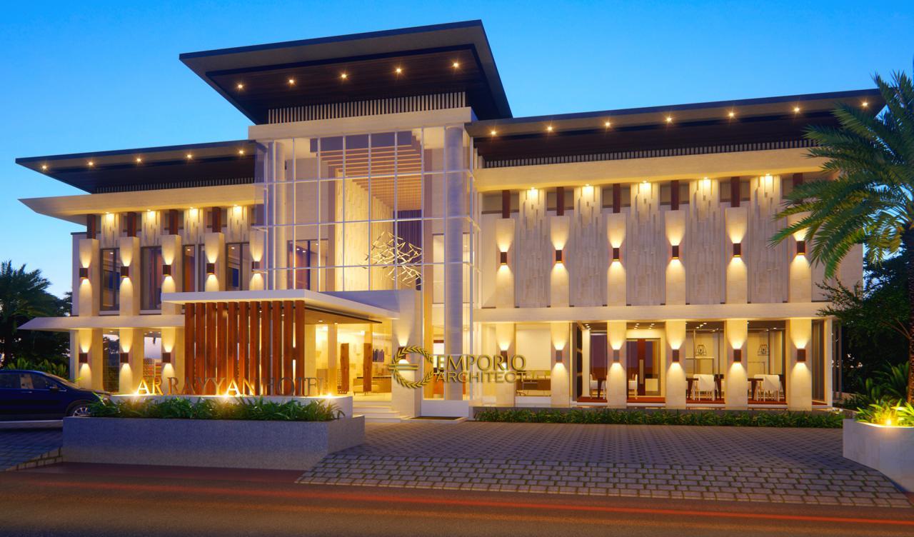 Desain Hotel Modern 2 Lantai Ar Rayyan di Banjarmasin Kalimantan