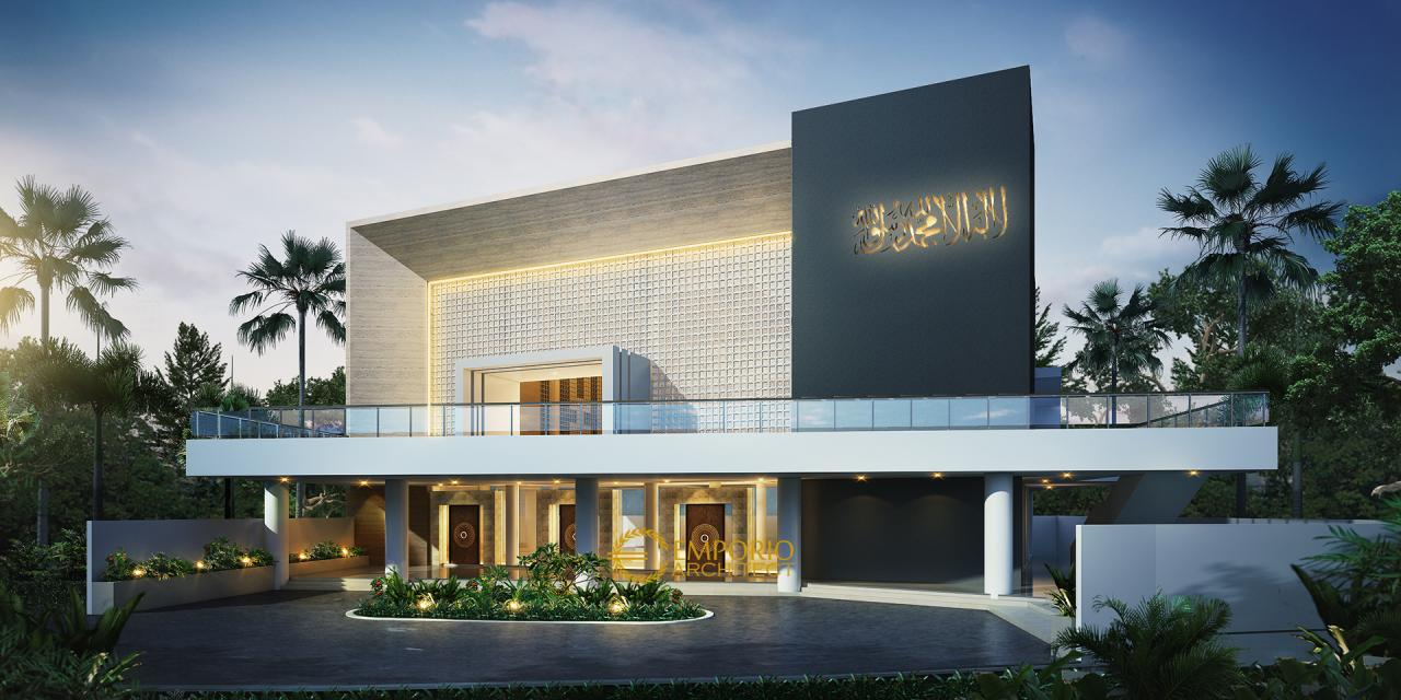 Desain Masjid Lippo Village Modern 3 Lantai di Karawaci ...