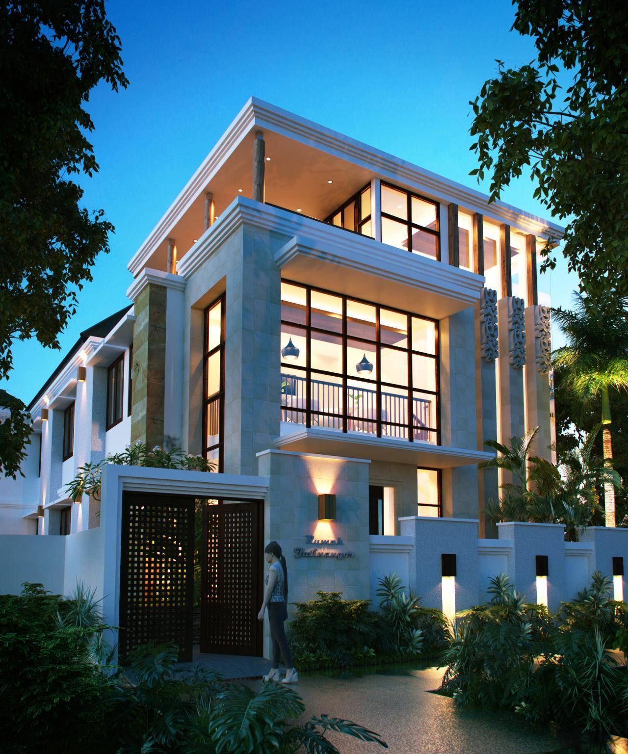 Desain Rumah Kos Modern 3 Lantai Bapak Saichu Di Bandung