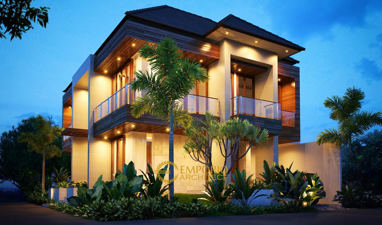 Desain Rumah Modern 2 Lantai Ibu Tasya di Jakarta ...