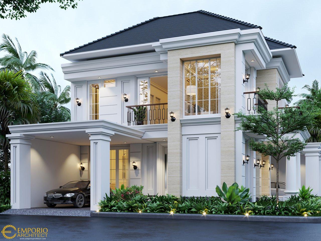 Desain Rumah 2 Lantai Dengan Balkon Radea