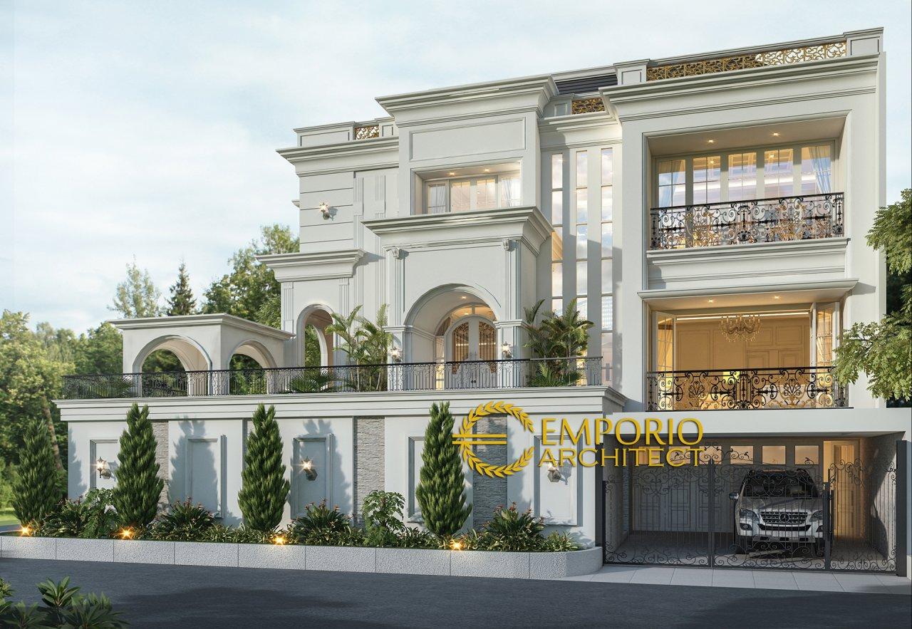 Desain Rumah Mediteran 3 Lantai Bapak Michael Dotulong di Kelapa Gading, Jakarta Utara