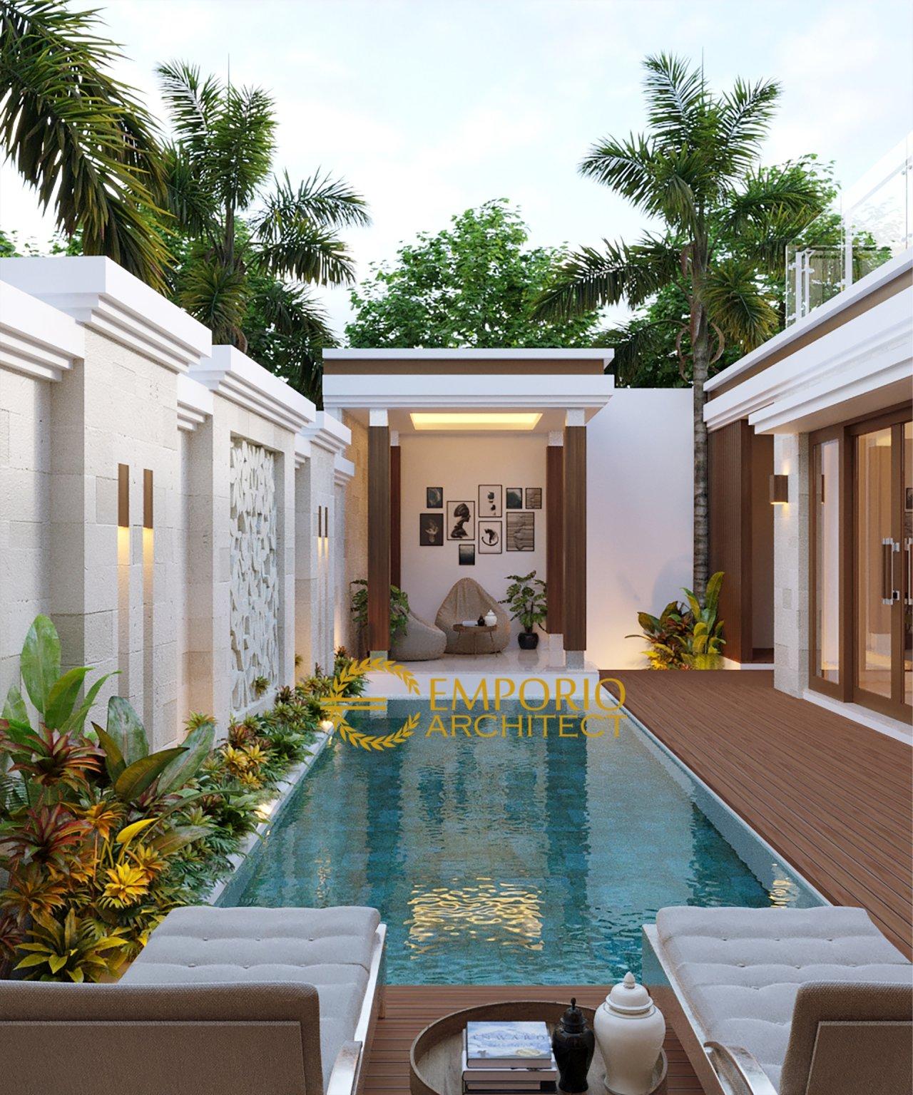 Desain Rumah Villa Bali 2 Lantai Ibu Sulistya Di Pekanbaru