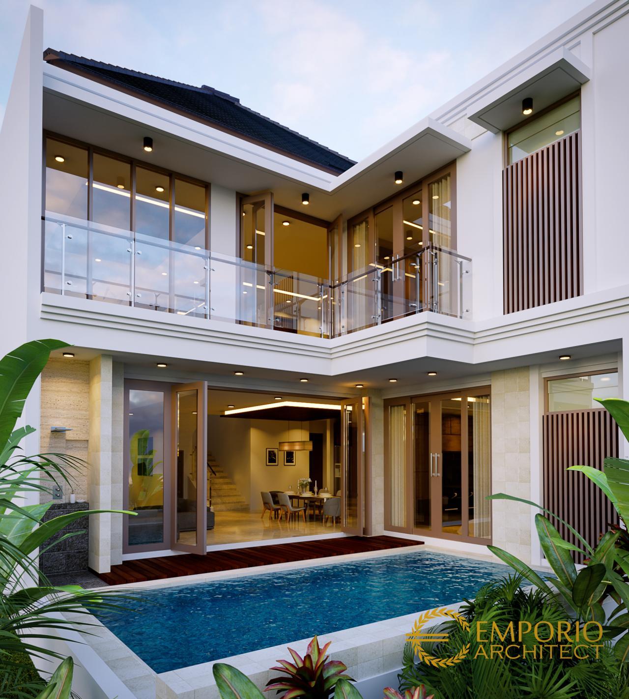 Emporio Arsitek: Desain Rumah Villa Bali 2 Lantai Bapak Fahmi II Di