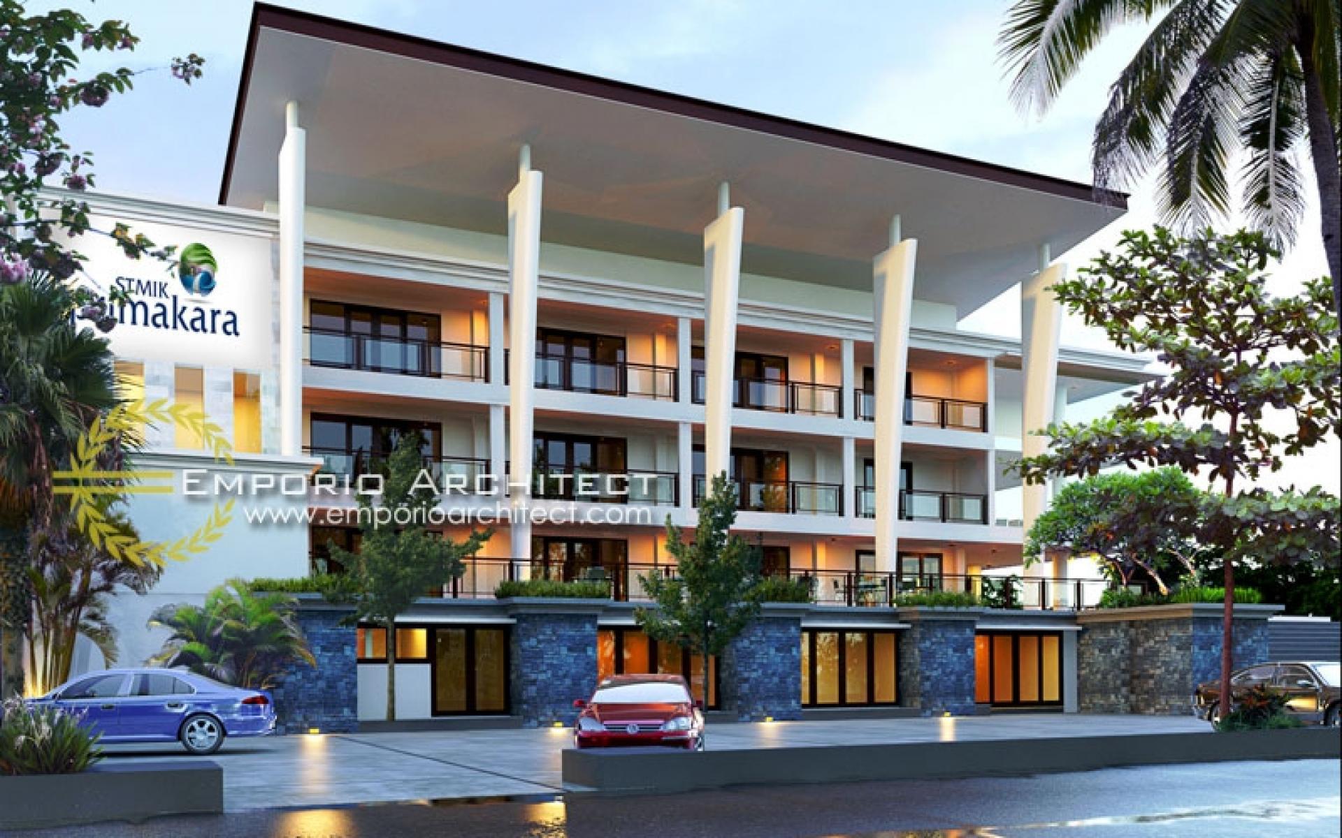 Desain Kampus Modern 4 Lantai Primakara School di  Bali