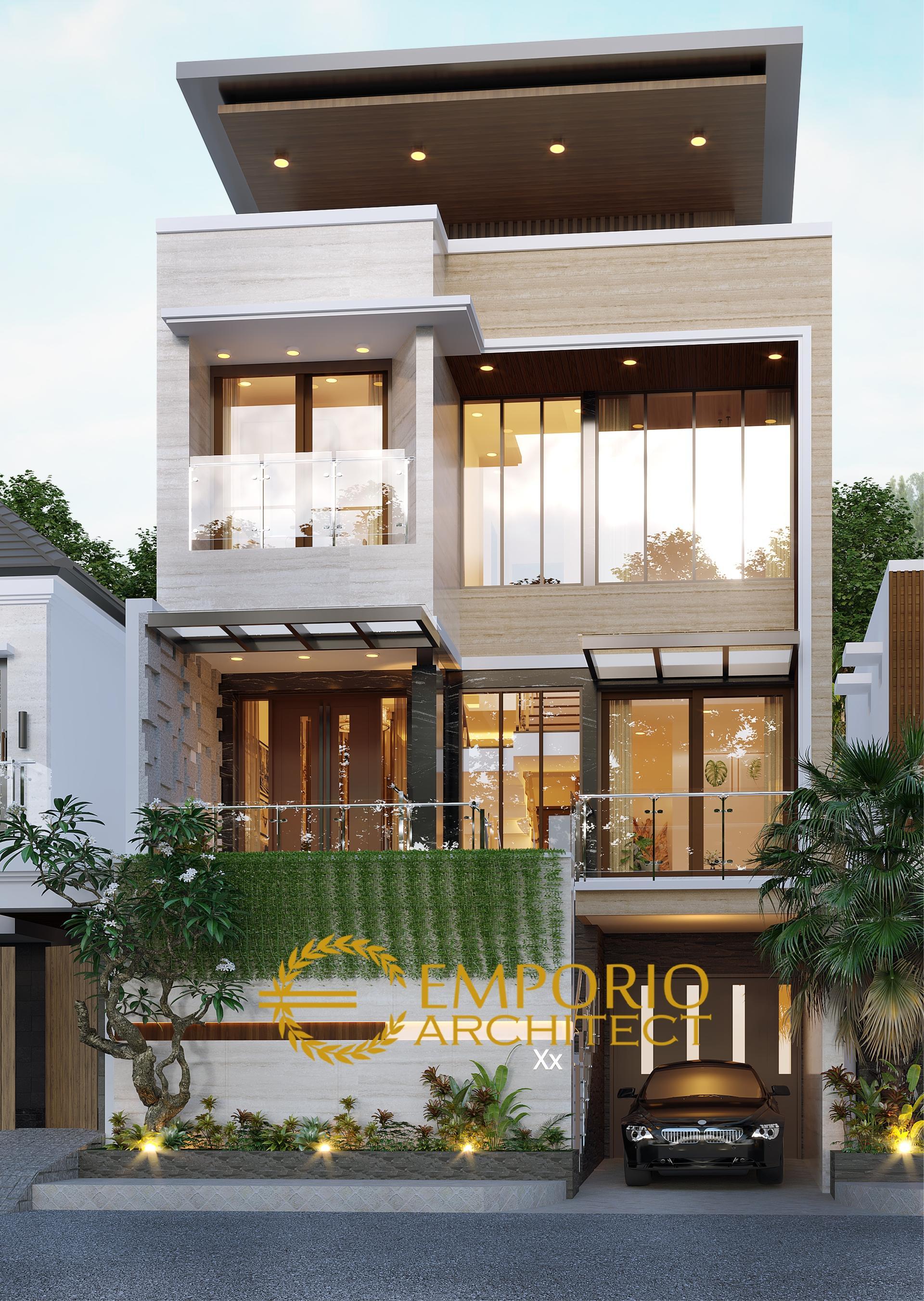 Desain Rumah Modern 3 Lantai Bapak Angga Di Surabaya Jawa Timur