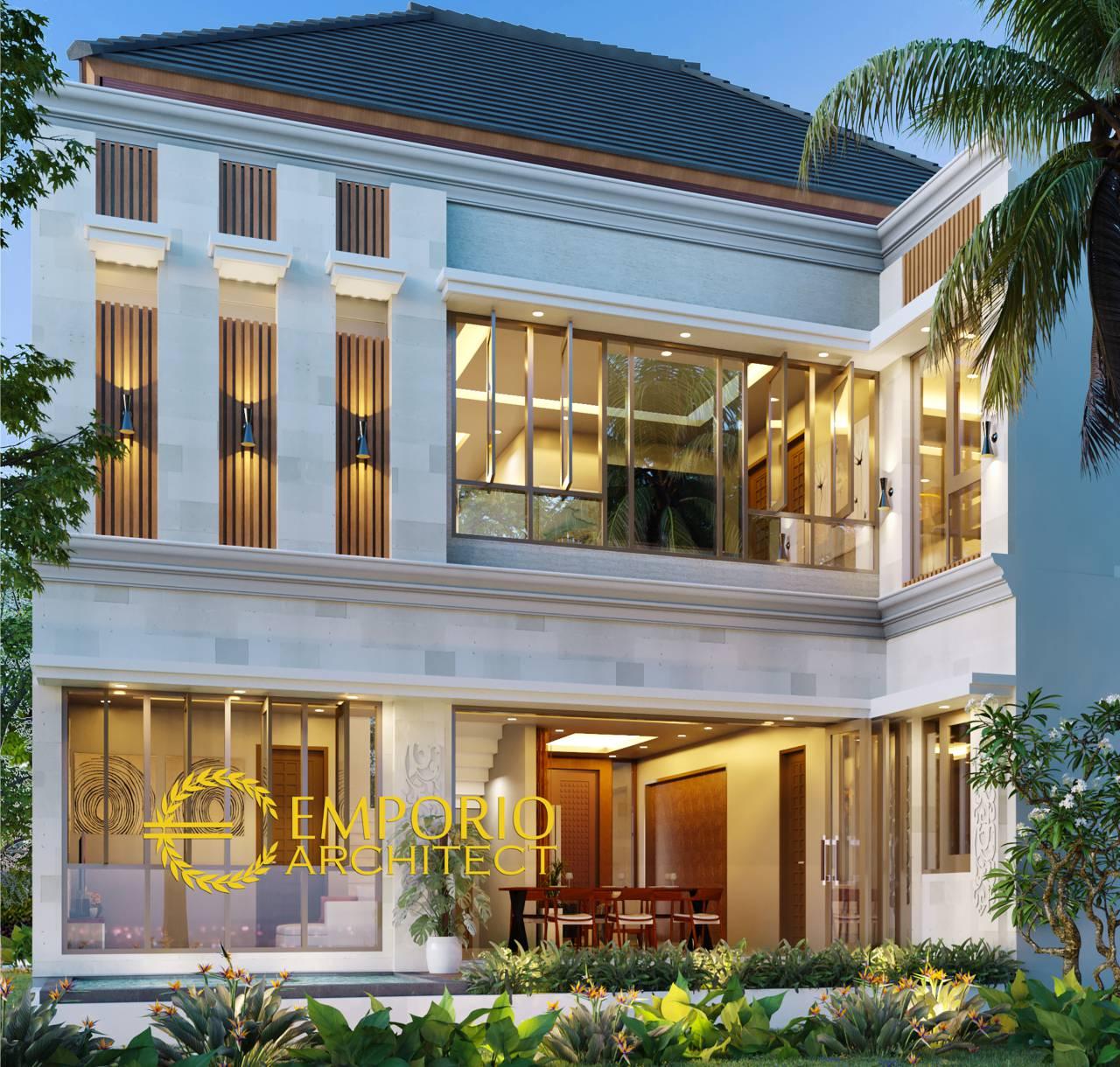 Desain Rumah Villa Bali 2 Lantai Bapak Warsa Di Banten