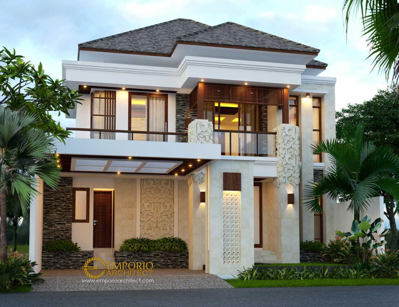 Desain Rumah Villa Bali 2 Lantai Beverly Park Type A38 di ...