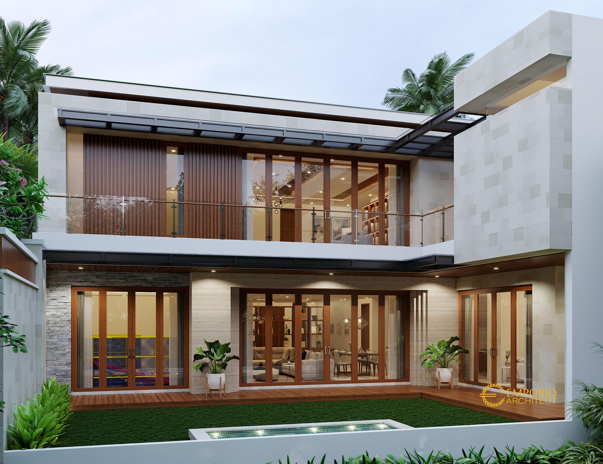 Desain Rumah Modern 3 Lantai Bapak Vitorio di Batam