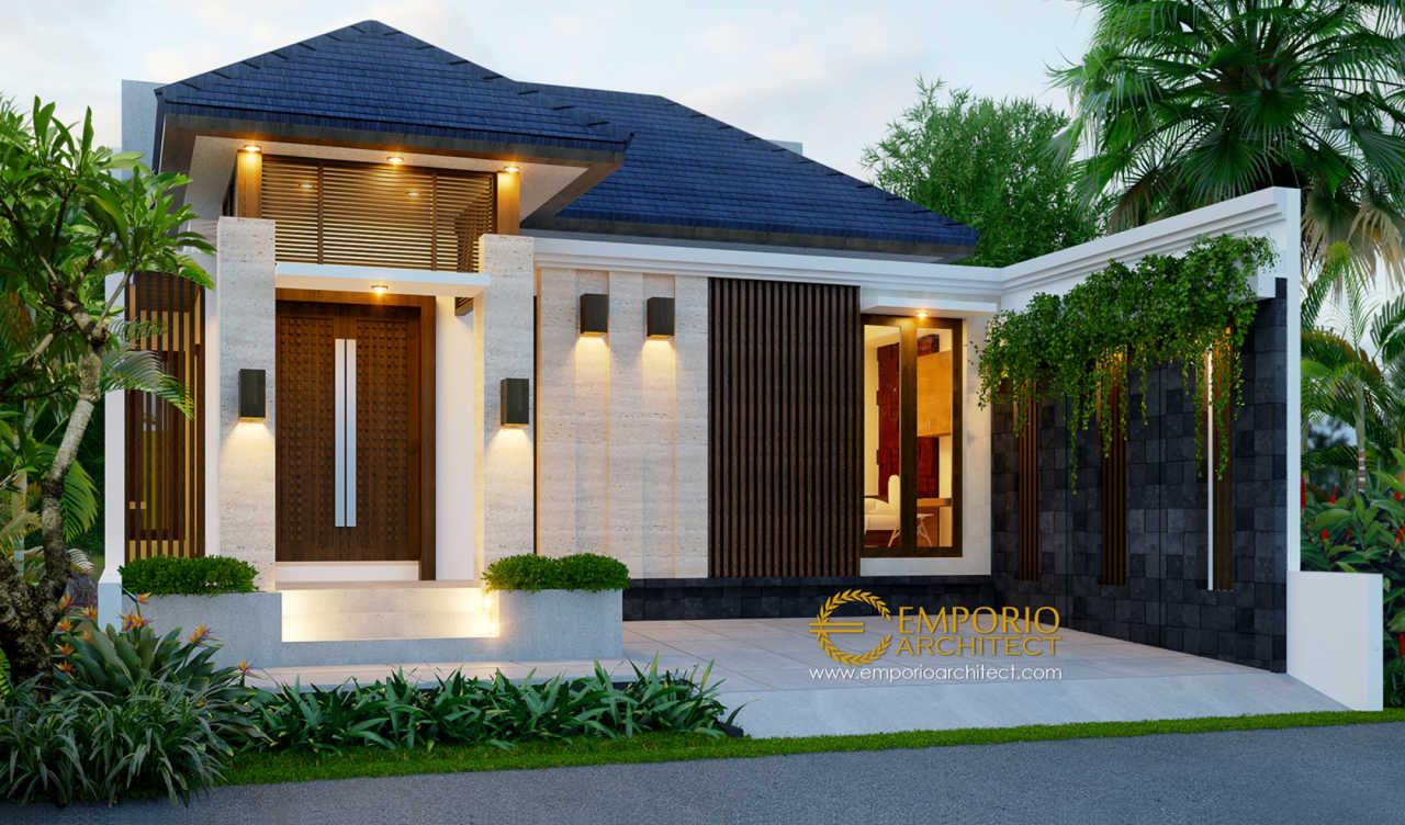 Desain Rumah Villa Bali 1 Lantai Bapak Bagus di Bekasi ...