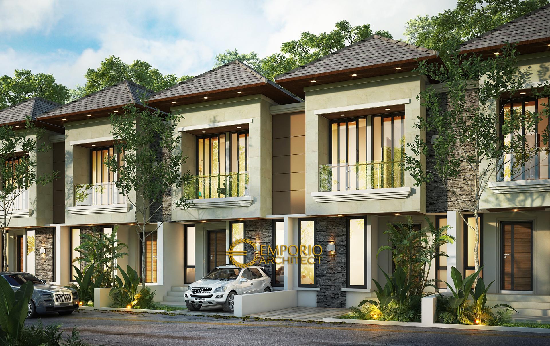Desain Villa Bali 2 Lantai The Mahaka Premiere di  Bekasi