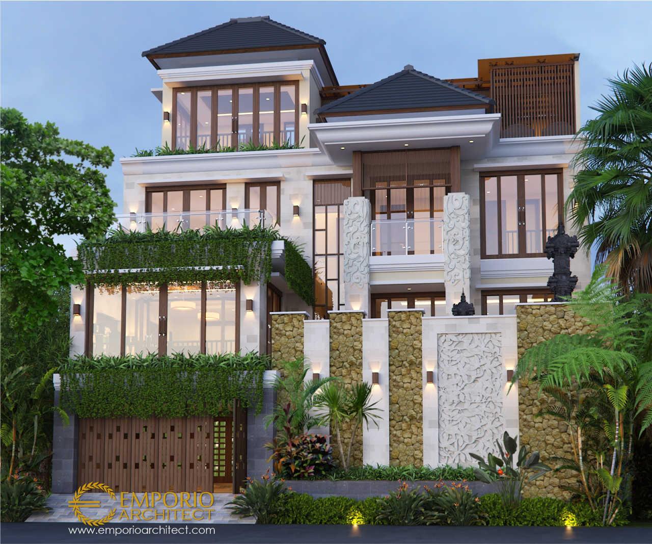 Desain Rumah Tinggal Terbaik Style Villa Bali Tropis di Bali 2