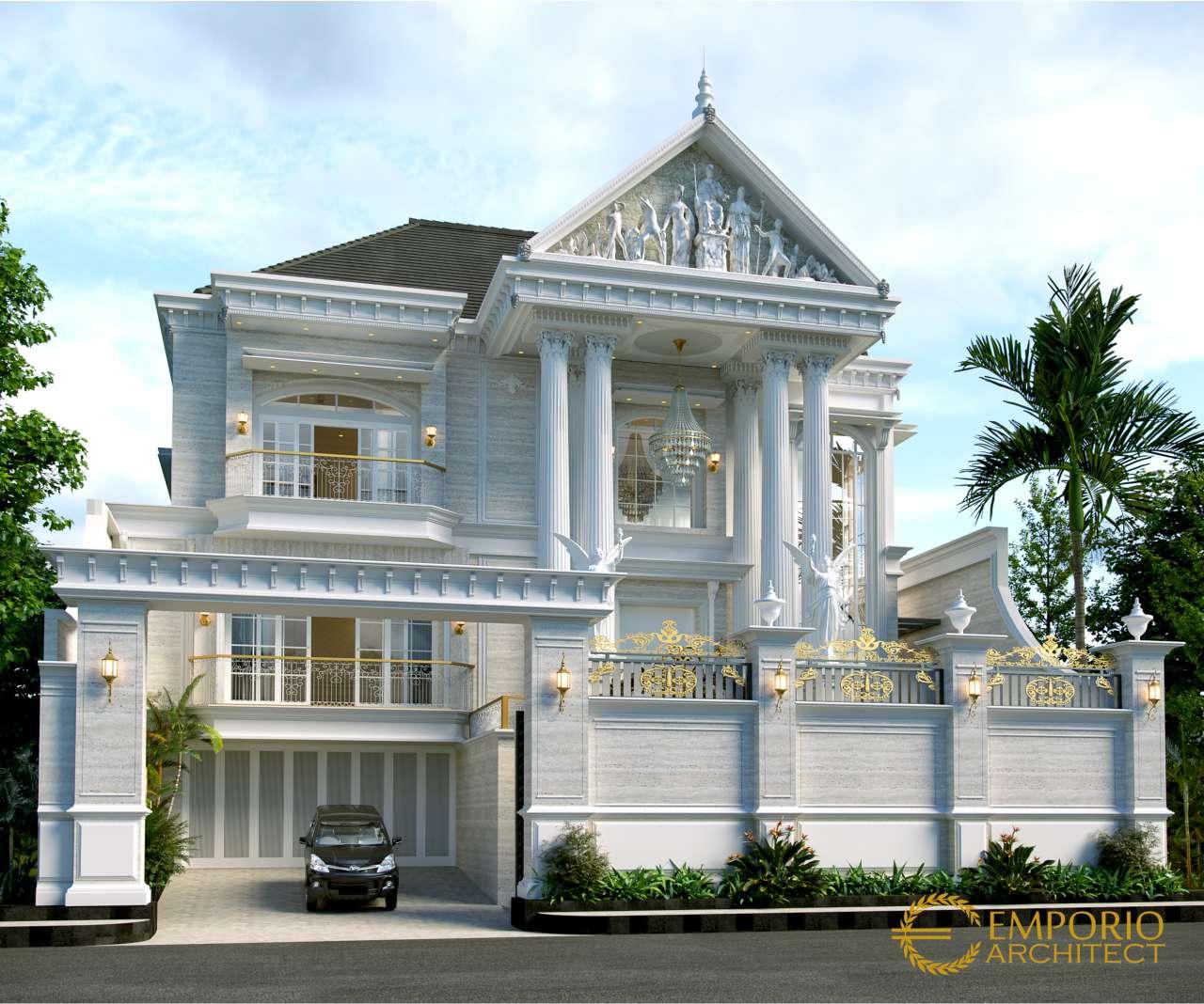 Desain Rumah Classic 3 Lantai Bapak Herman Di Denpasar, Bali
