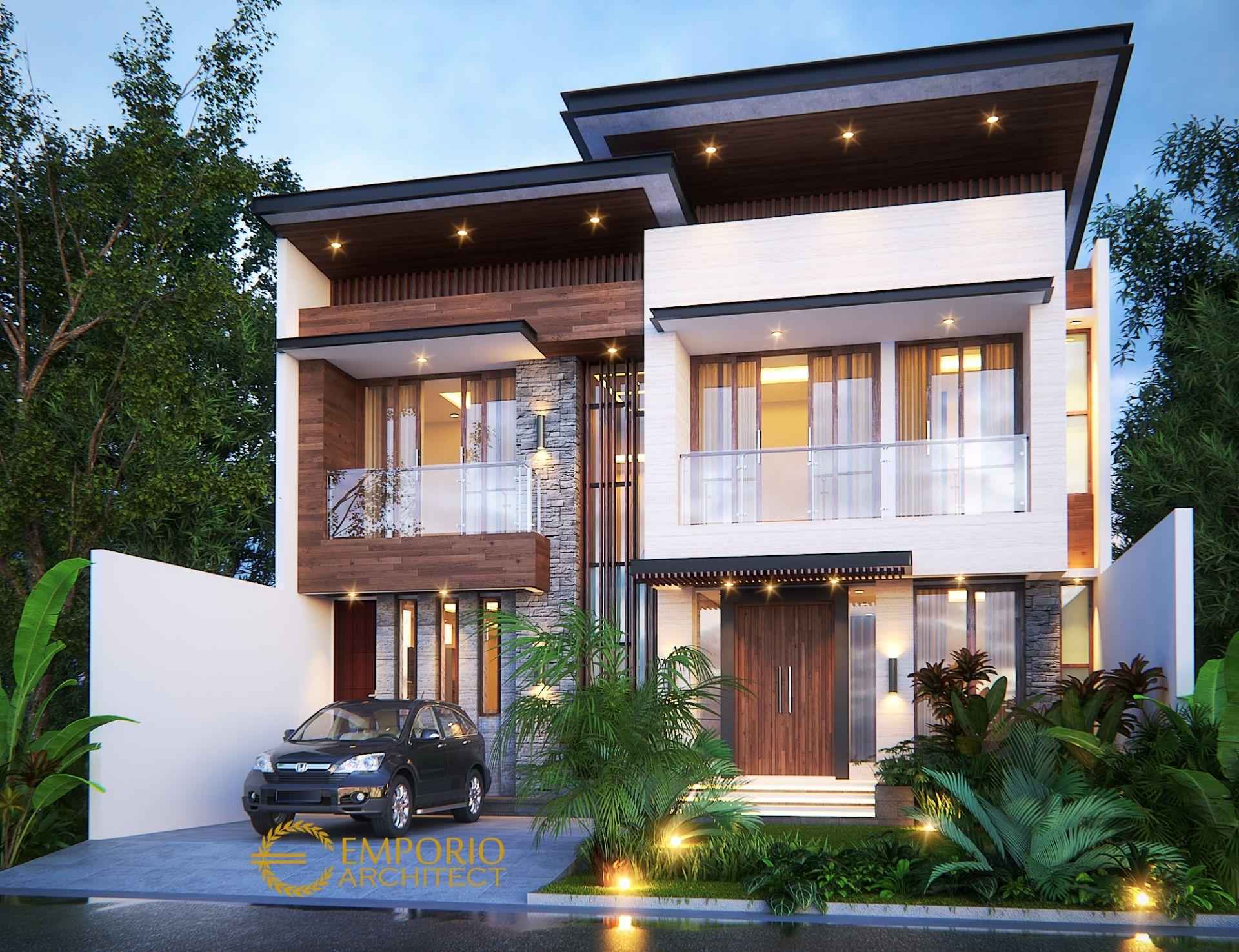 Desain Rumah Modern 2 Lantai Bapak Iskandar di Depok Jawa Barat