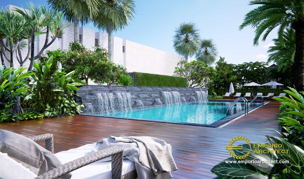 Desain Cluster Villa Bali 1 Lantai Kaliska di Karawang, Jawa Barat