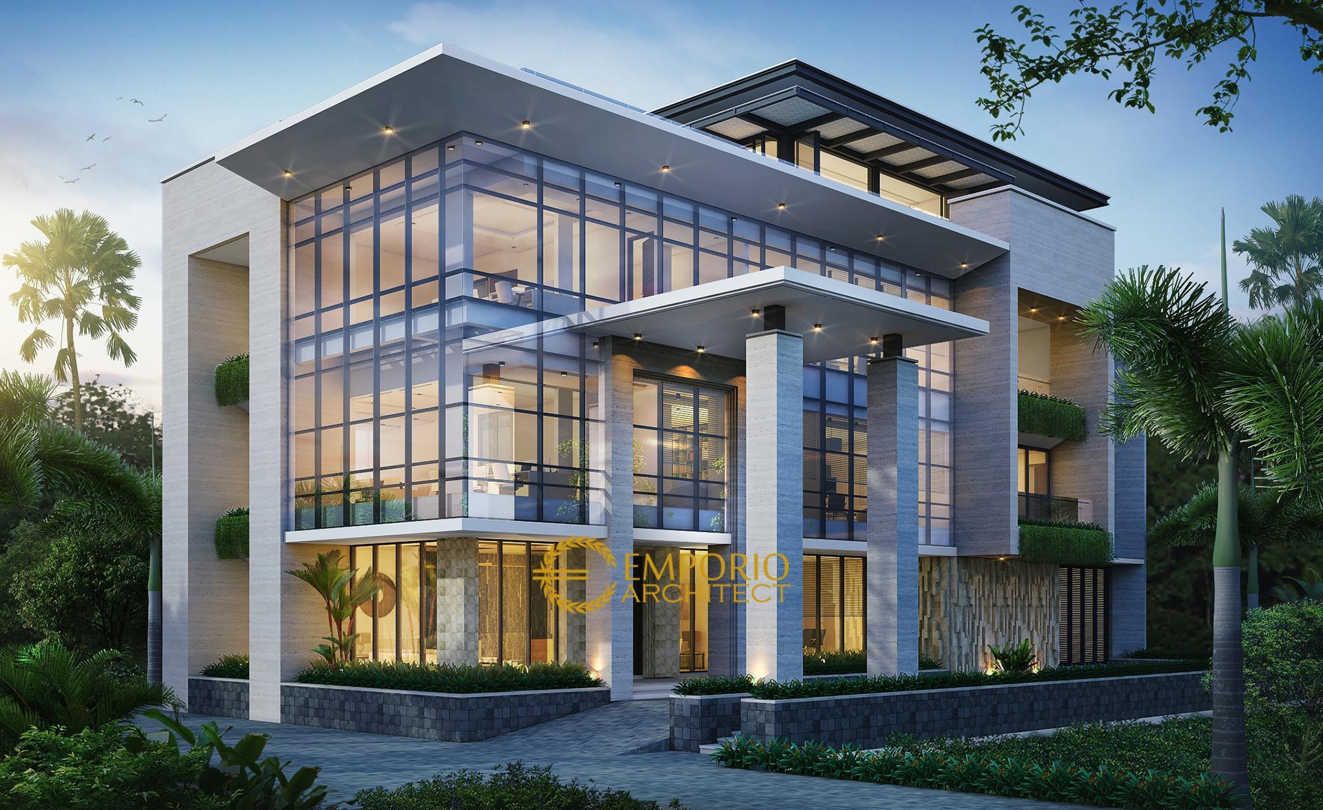 Mr. Wiantono Modern Office 3 Floors Design - Jatibening, Bekasi