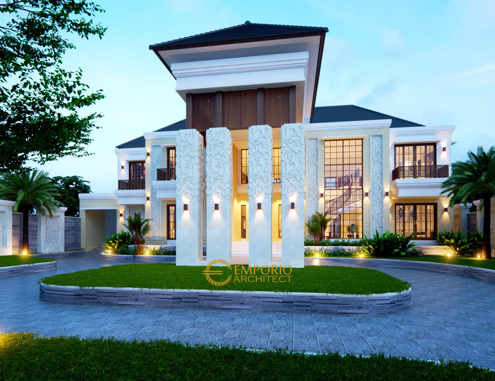 Desain Rumah Villa Bali 2 Lantai Bapak Andre II di  Medan, Sumatera Utara