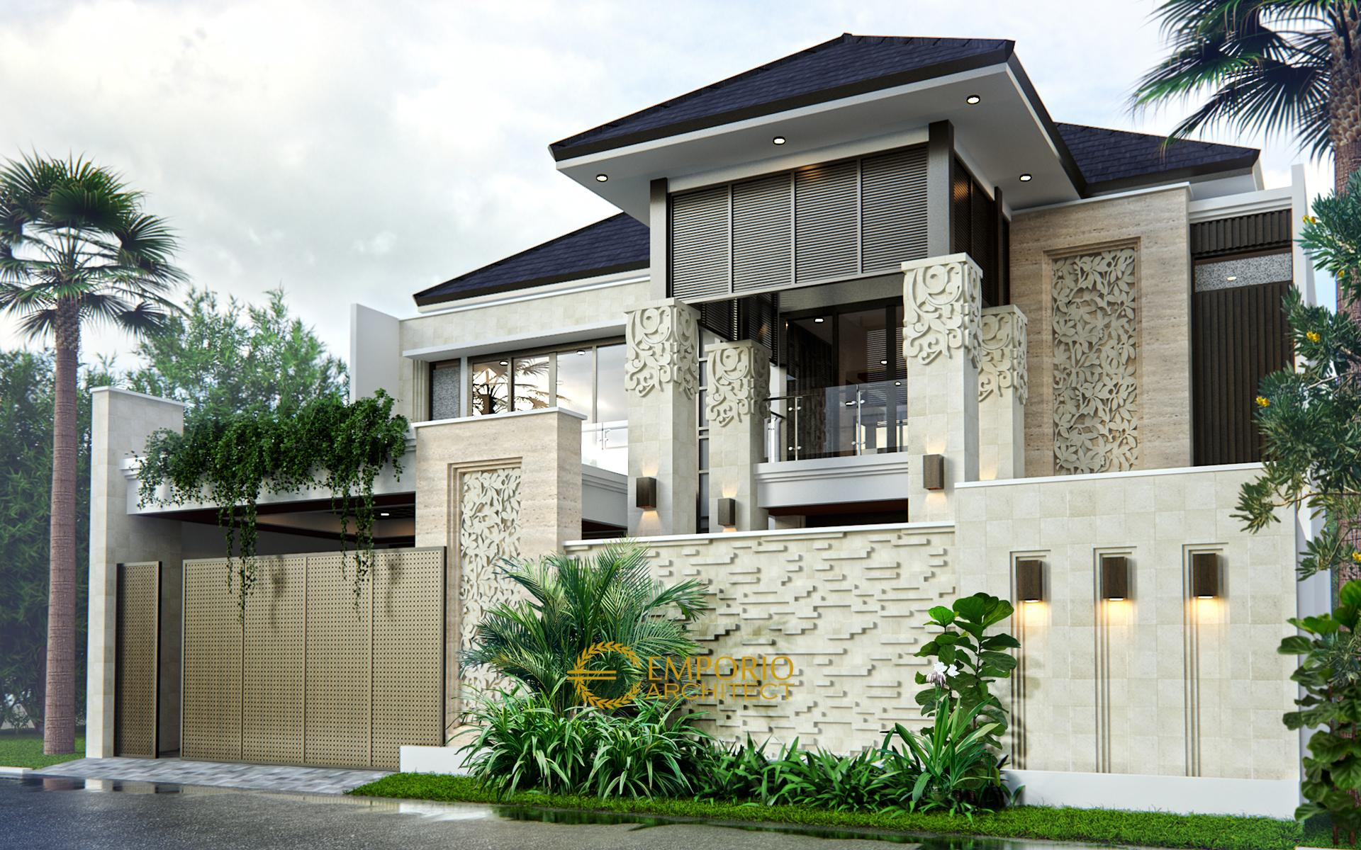 Mr. Edmon Villa Bali House 2 Floors Design - Cibubur, Jakarta Timur