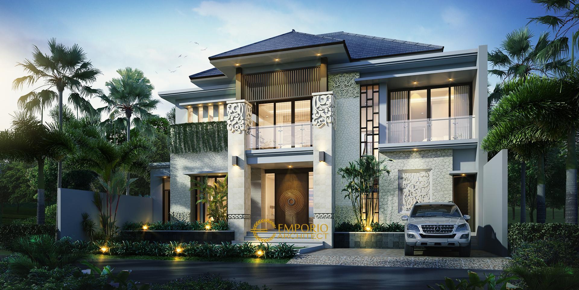 Desain Rumah Villa Bali 2 Lantai Bapak Faishal di  Bintaro, Jakarta Selatan