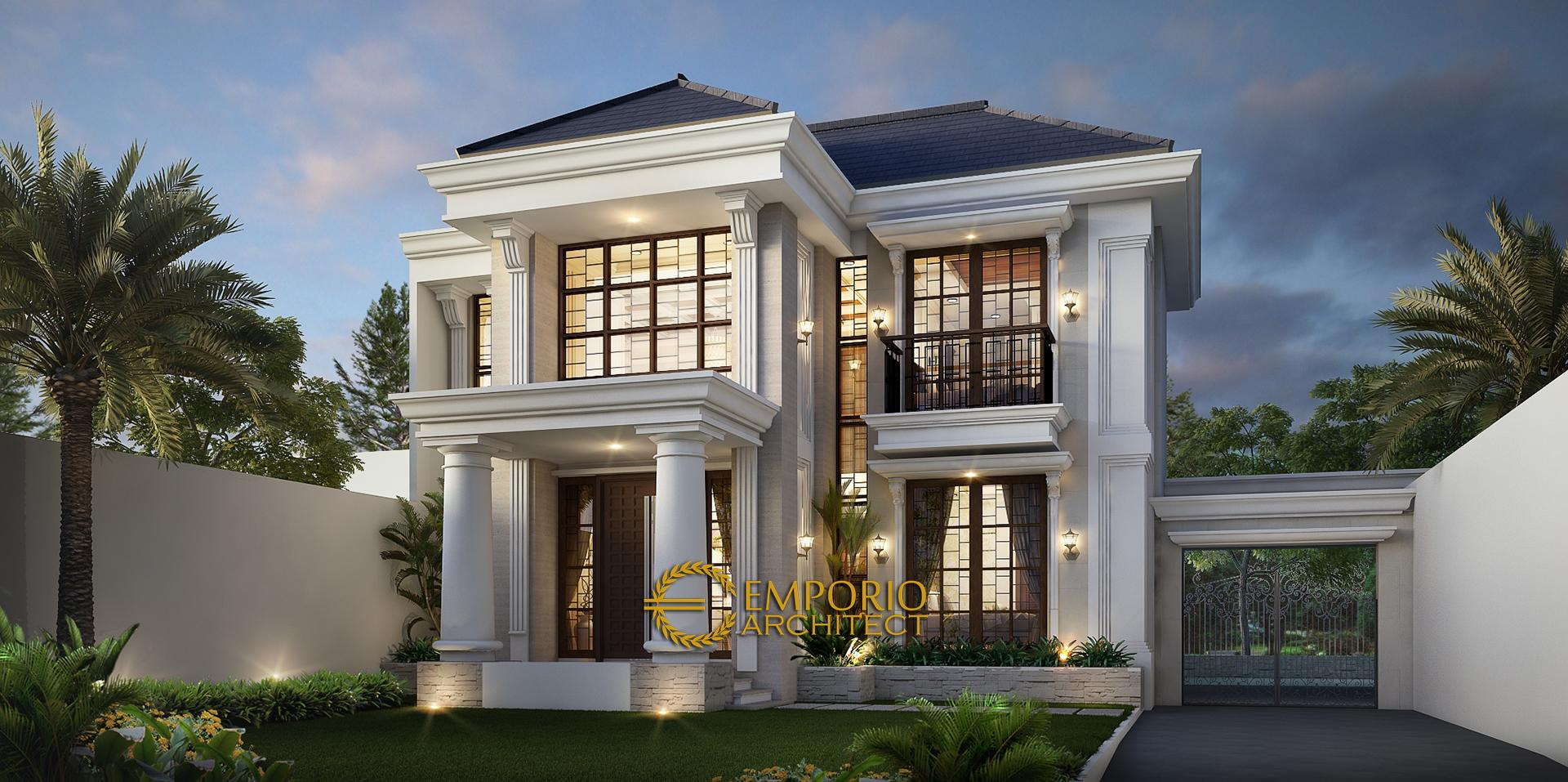 Mr. Kusno Classic House 2 Floors Design - Depok, Jawa Barat