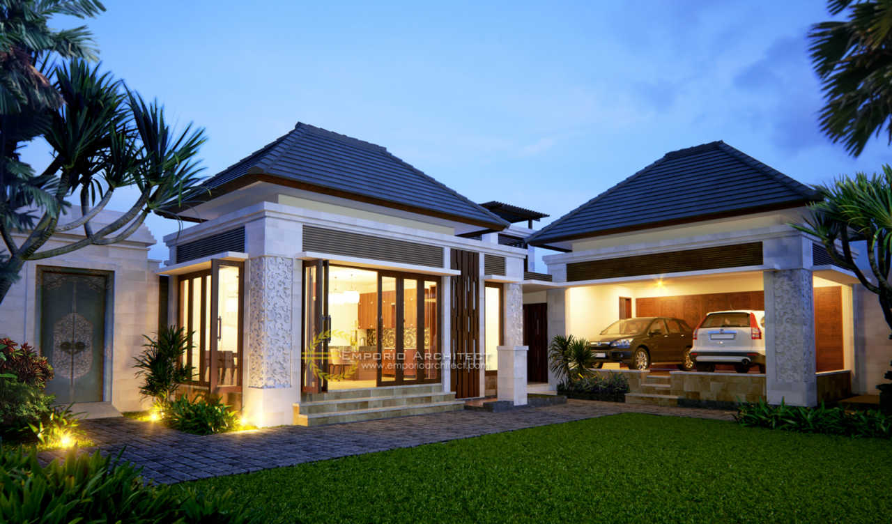 Desain Rumah Villa Bali 1 Lantai Bapak Komang Adi di ...