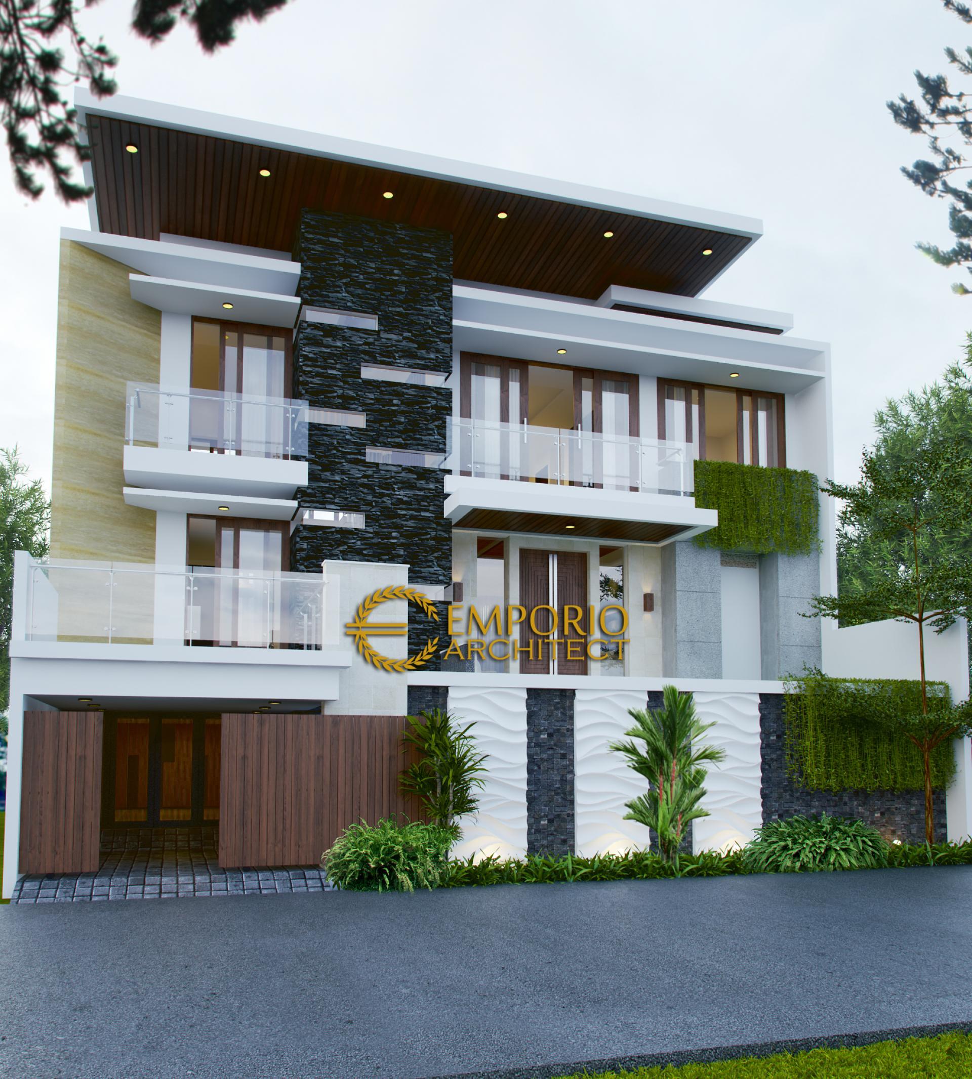Desain Rumah Modern 3 Lantai Ibu Elly di  Jakarta