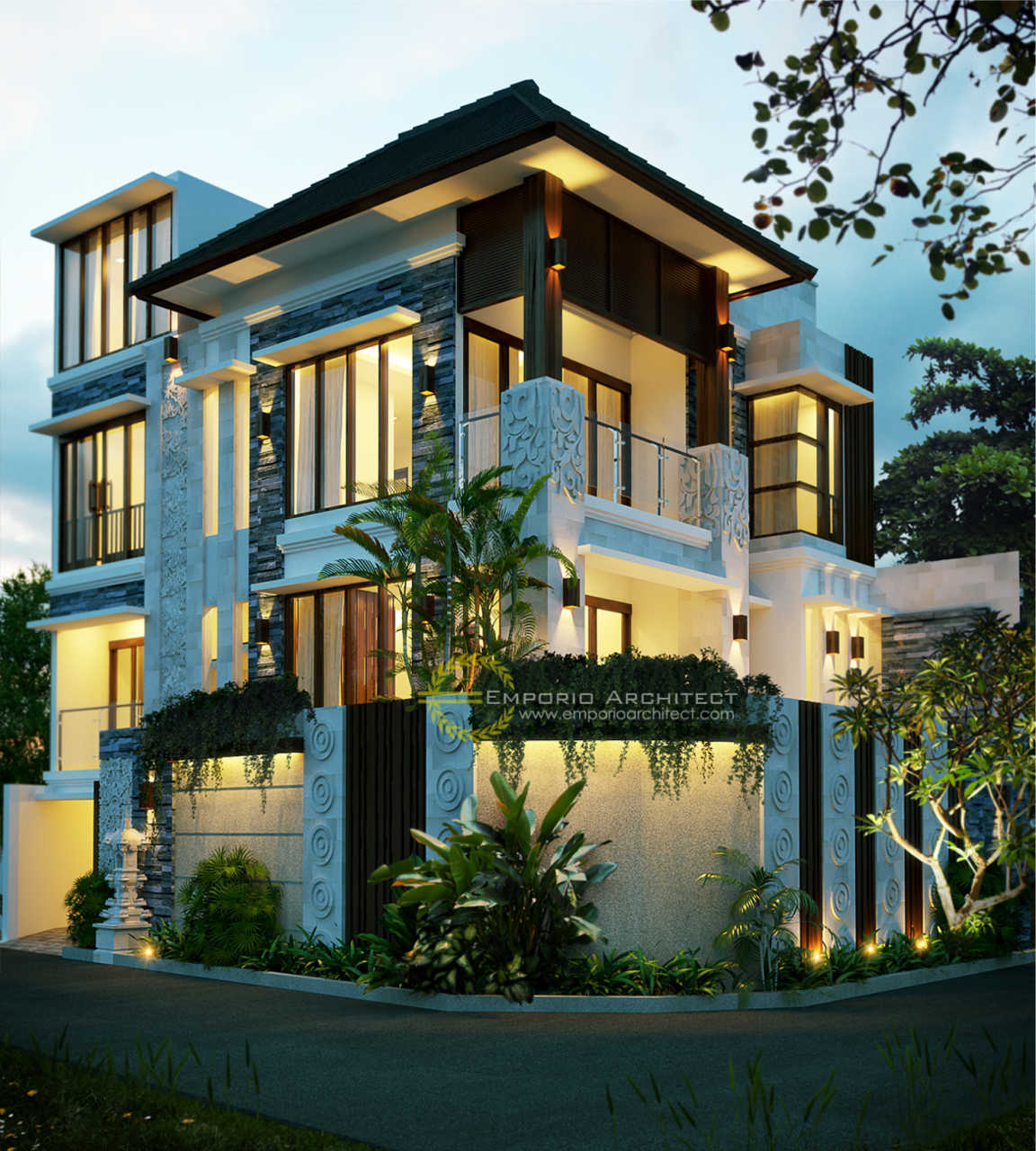 Desain Rumah Villa Bali 3 Lantai Ibu Ketut Nuriati Di