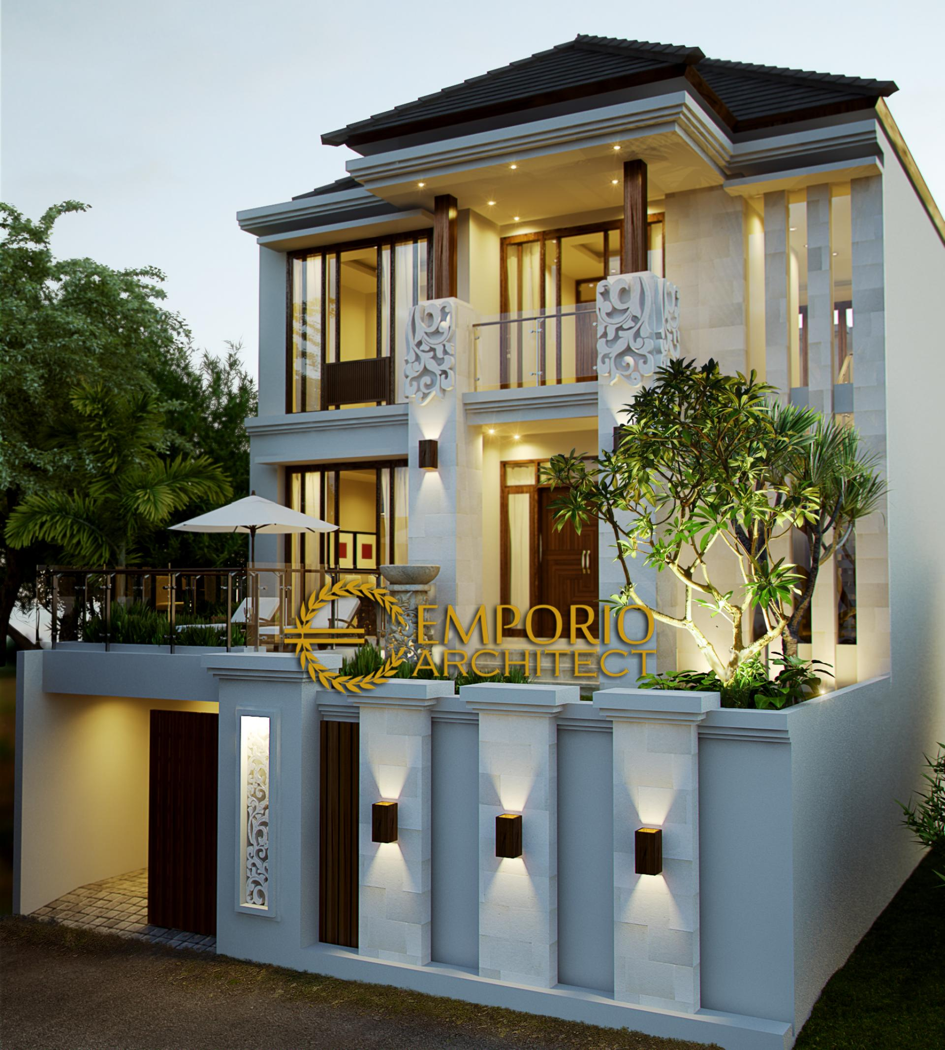 Mrs. Lusiana Villa Bali House 3 Floors Design - Jakarta