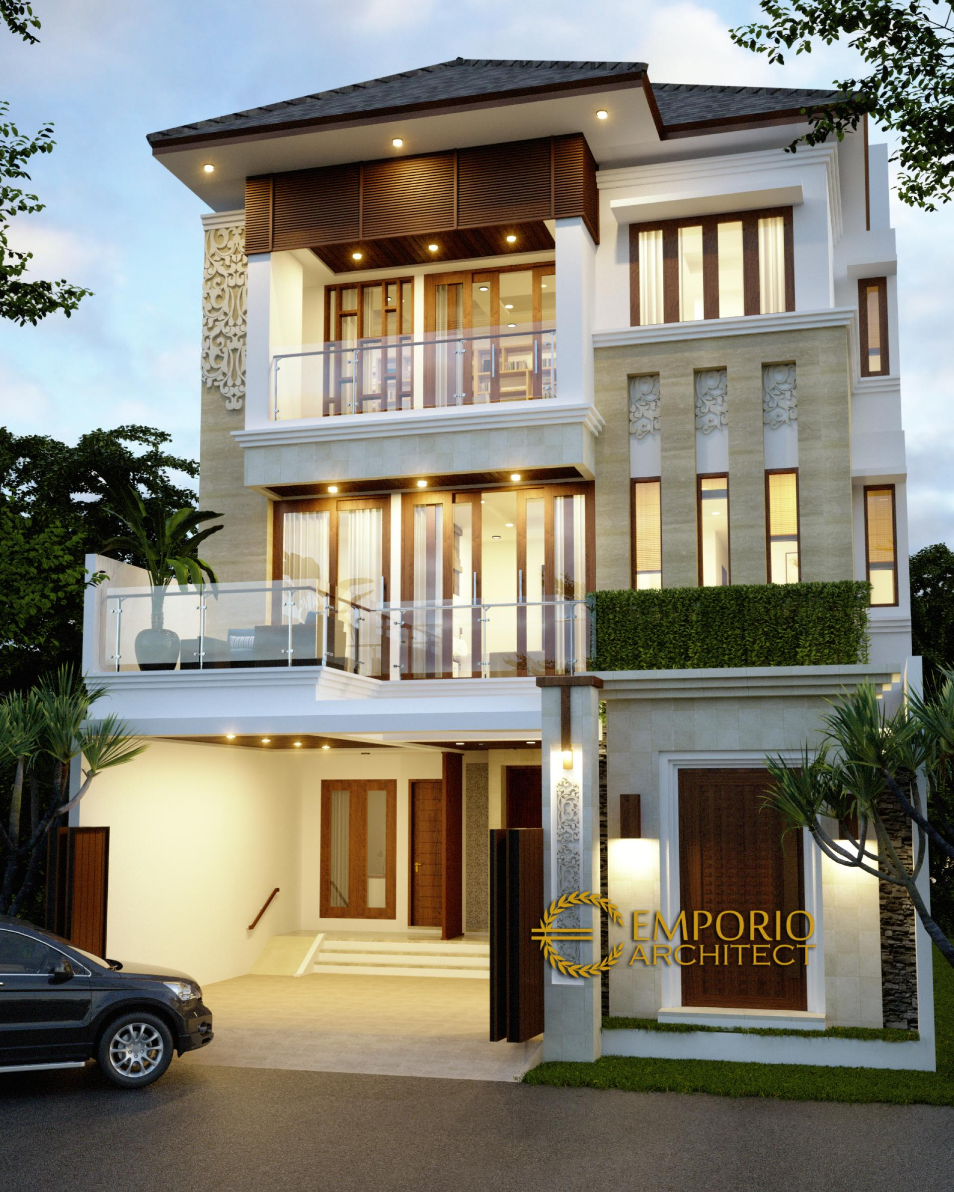 Desain Rumah Villa Bali 3 Lantai Ibu Yani di  Jakarta
