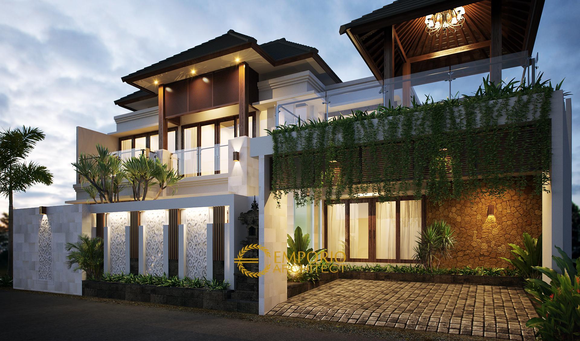 Desain Rumah Villa Bali 2 Lantai Bapak Ida Bagus Sindhu di  Singaraja, Bali