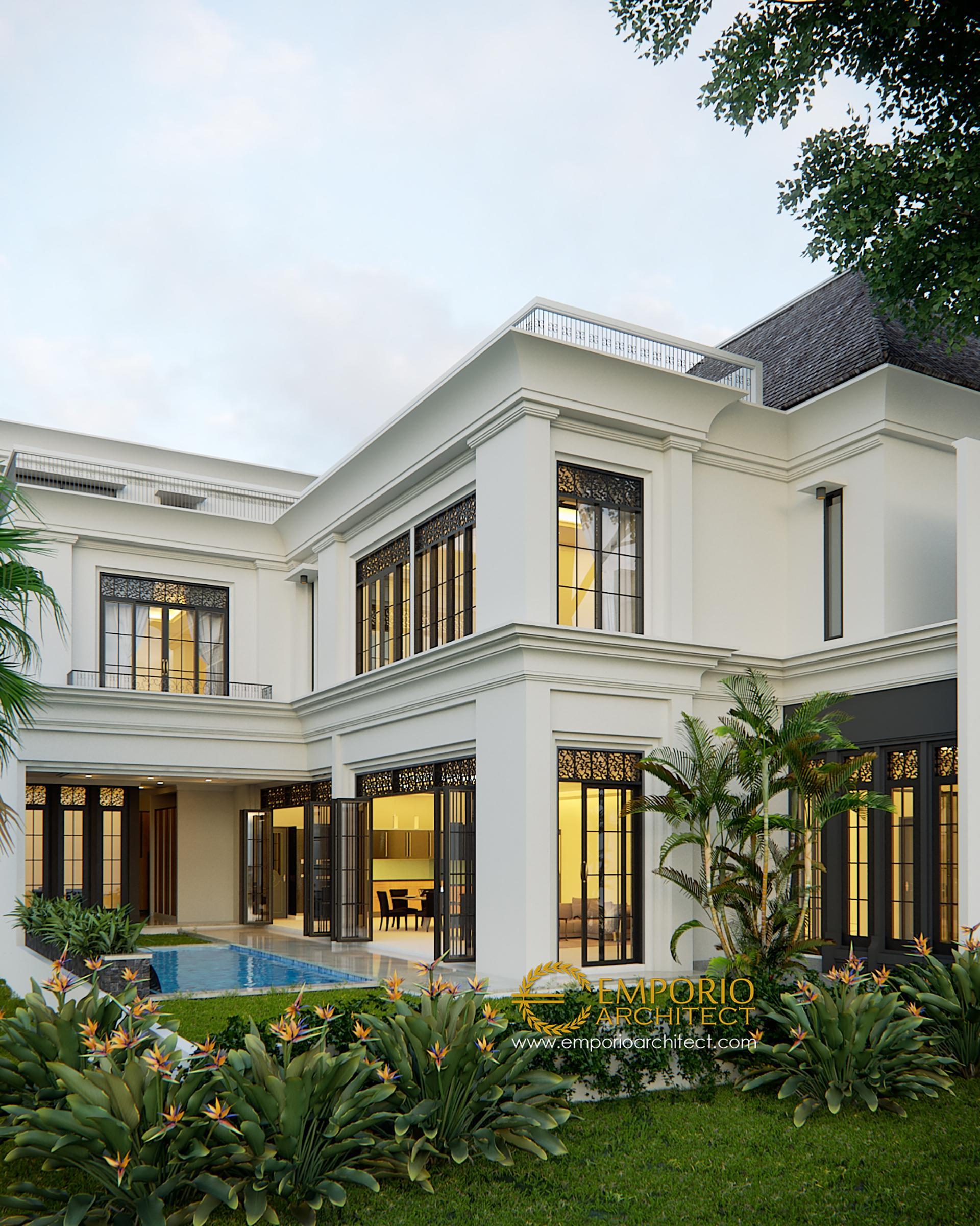 Arsitek Rumah Classic: Desain Rumah Classic 2 Lantai Bapak Gusti Di Jakarta