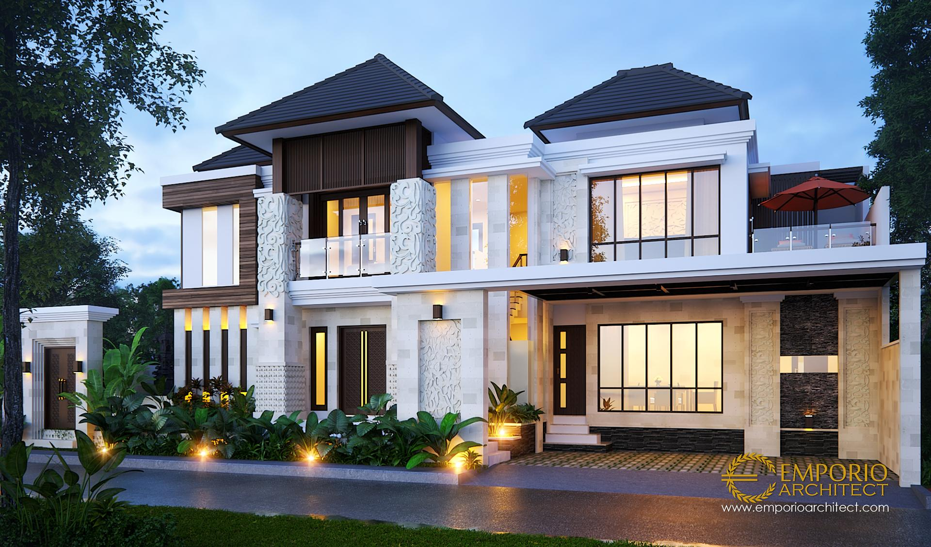 Desain Rumah Hook Villa Bali 2 Lantai Bapak Agus Eka di  Gianyar, Bali