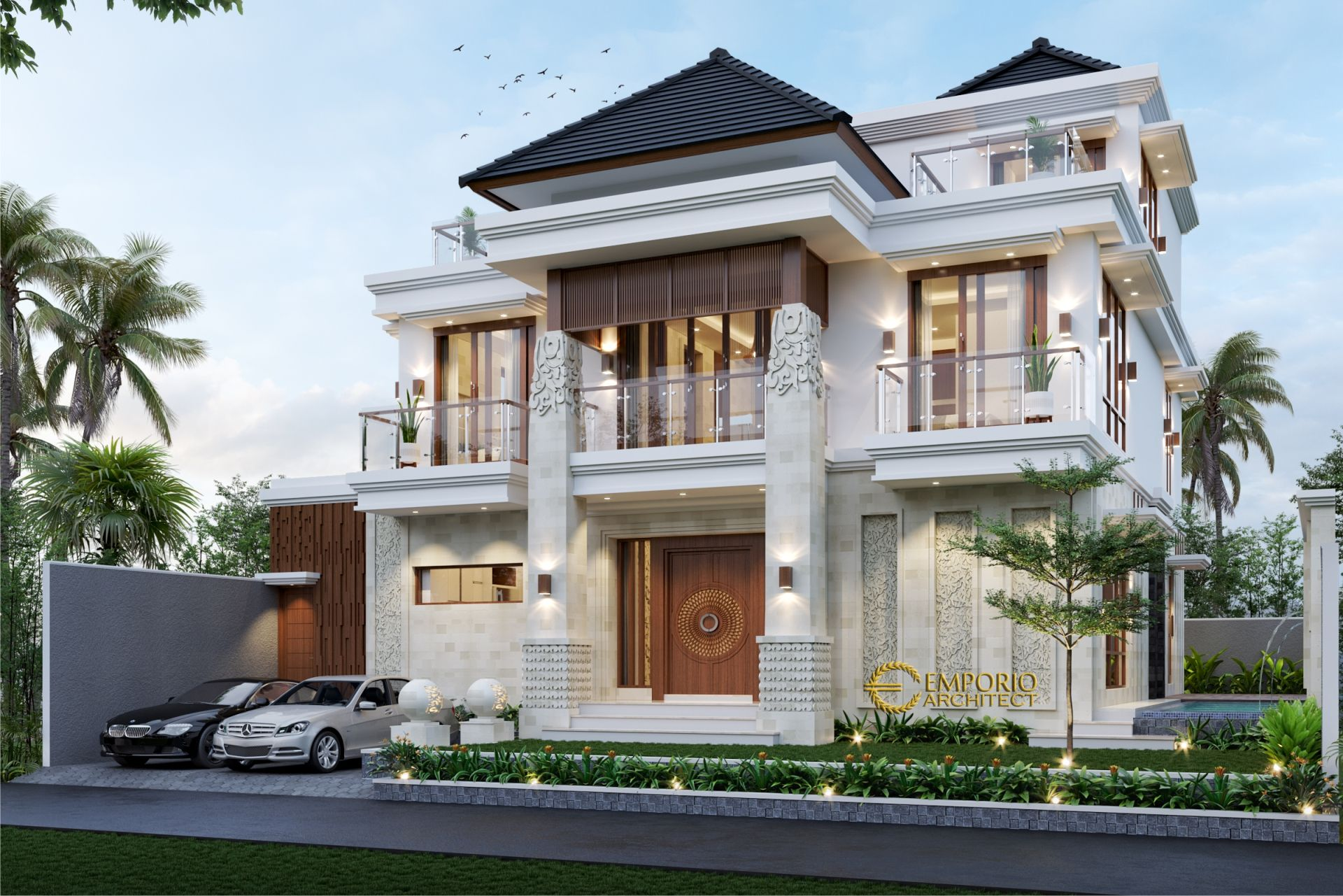 Desain Rumah Villa Bali 2 Lantai Mr Vaibhav dan Mr Nilesh