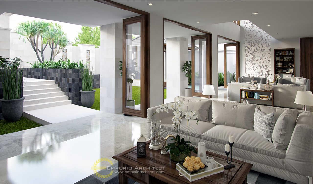 Desain Kantor Style Villa Bali 3 Lantai Bapak Edwin di Jakarta