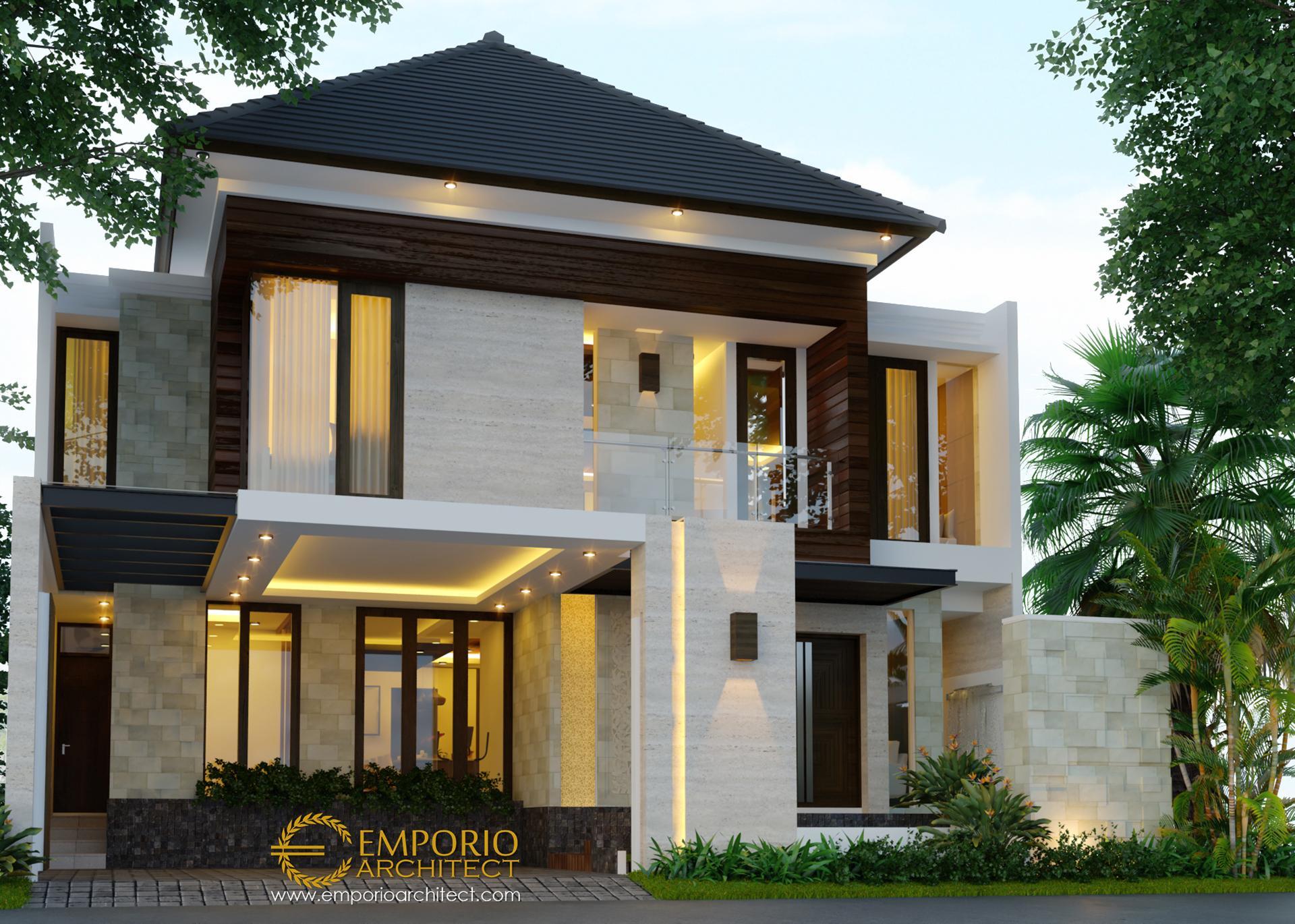 Desain Rumah Modern 2 Lantai Bapak Agon di  Jakarta