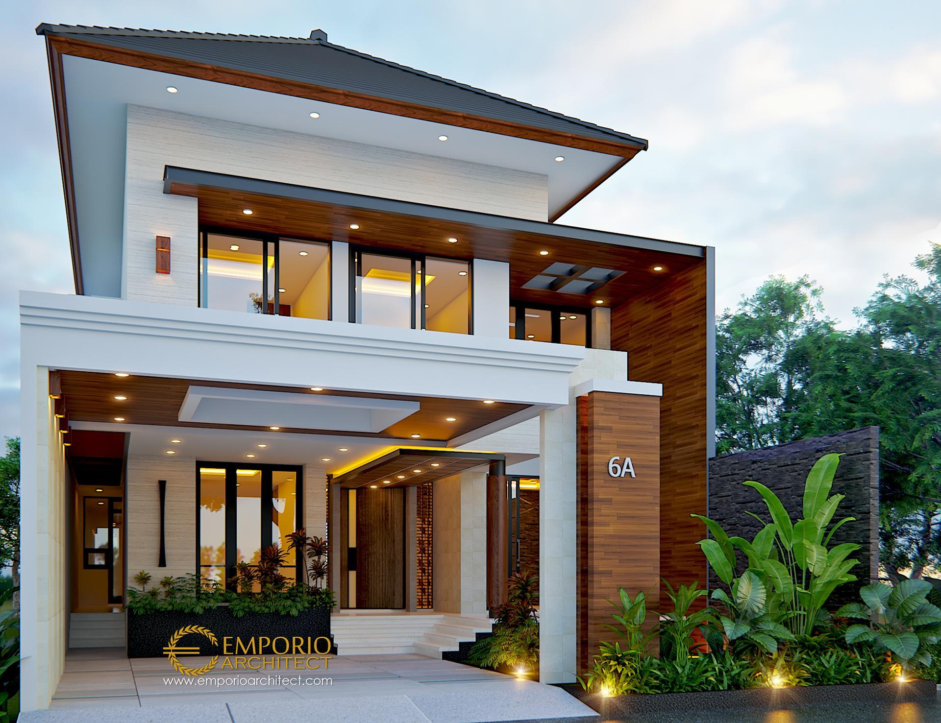 Desain Rumah Modern 2 Lantai Bapak Anton M. Purba di  Jakarta