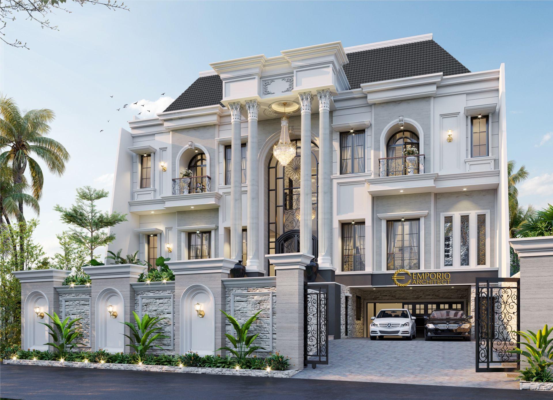 Desain Rumah Classic 3 Lantai Bapak Calvin di Jakarta