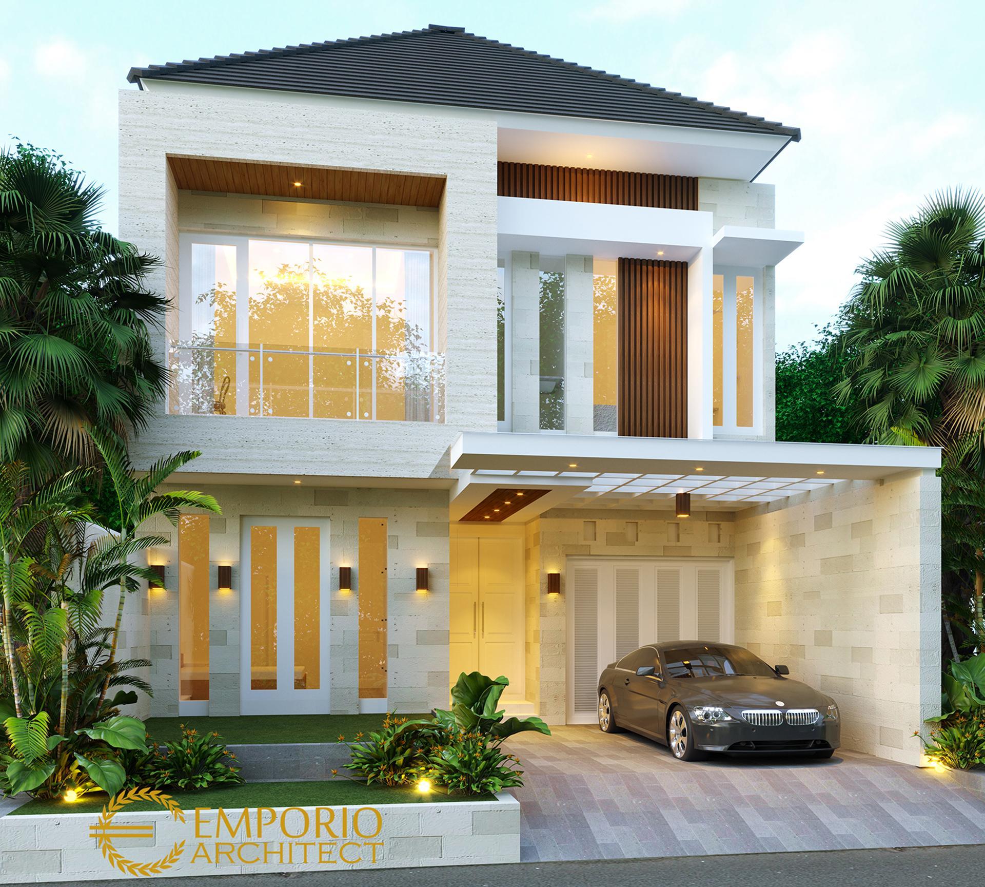 Desain Rumah Modern 2 Lantai Bapak Denny di  Jakarta
