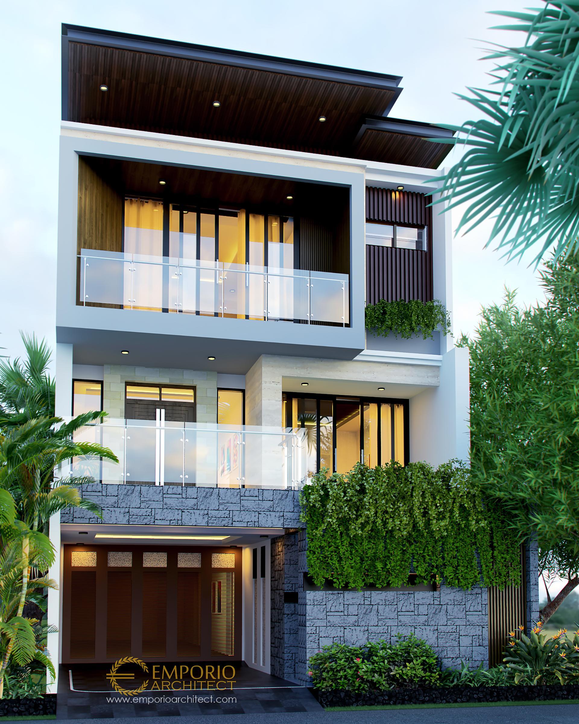Desain Rumah Modern 3 Lantai Bapak Hardy di  Jakarta