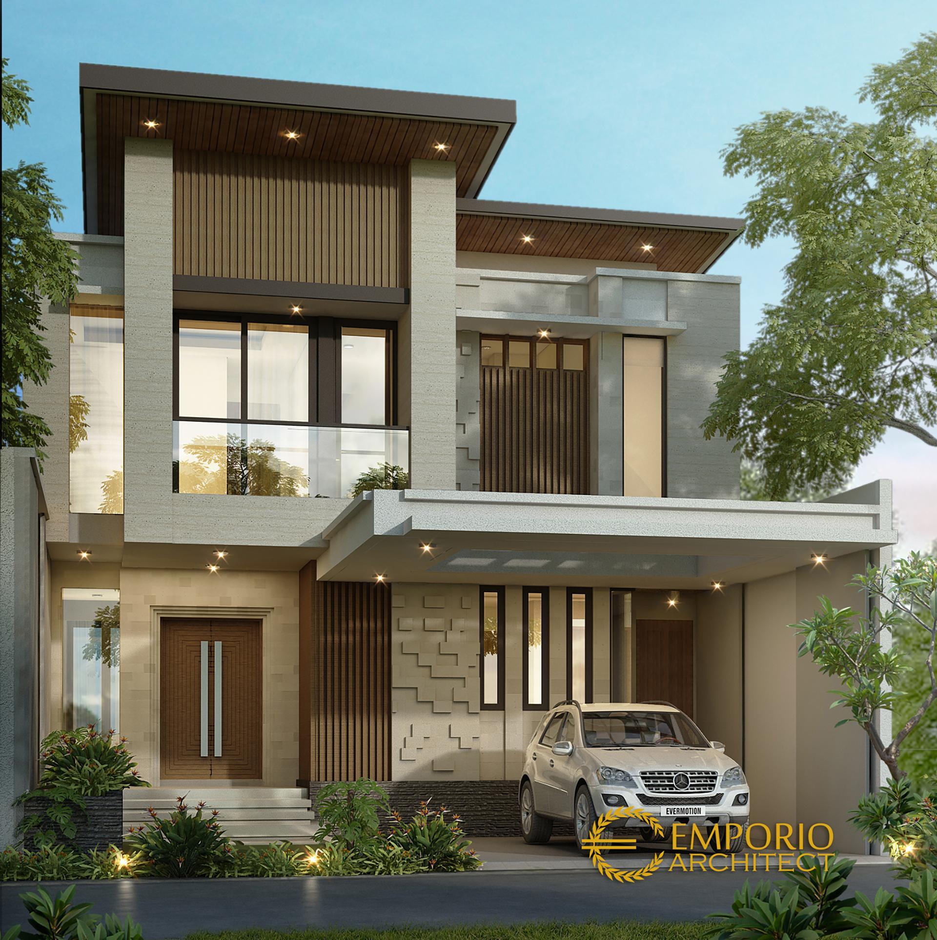 Desain Rumah Modern 2 Lantai Bapak Ricky di  Bekasi