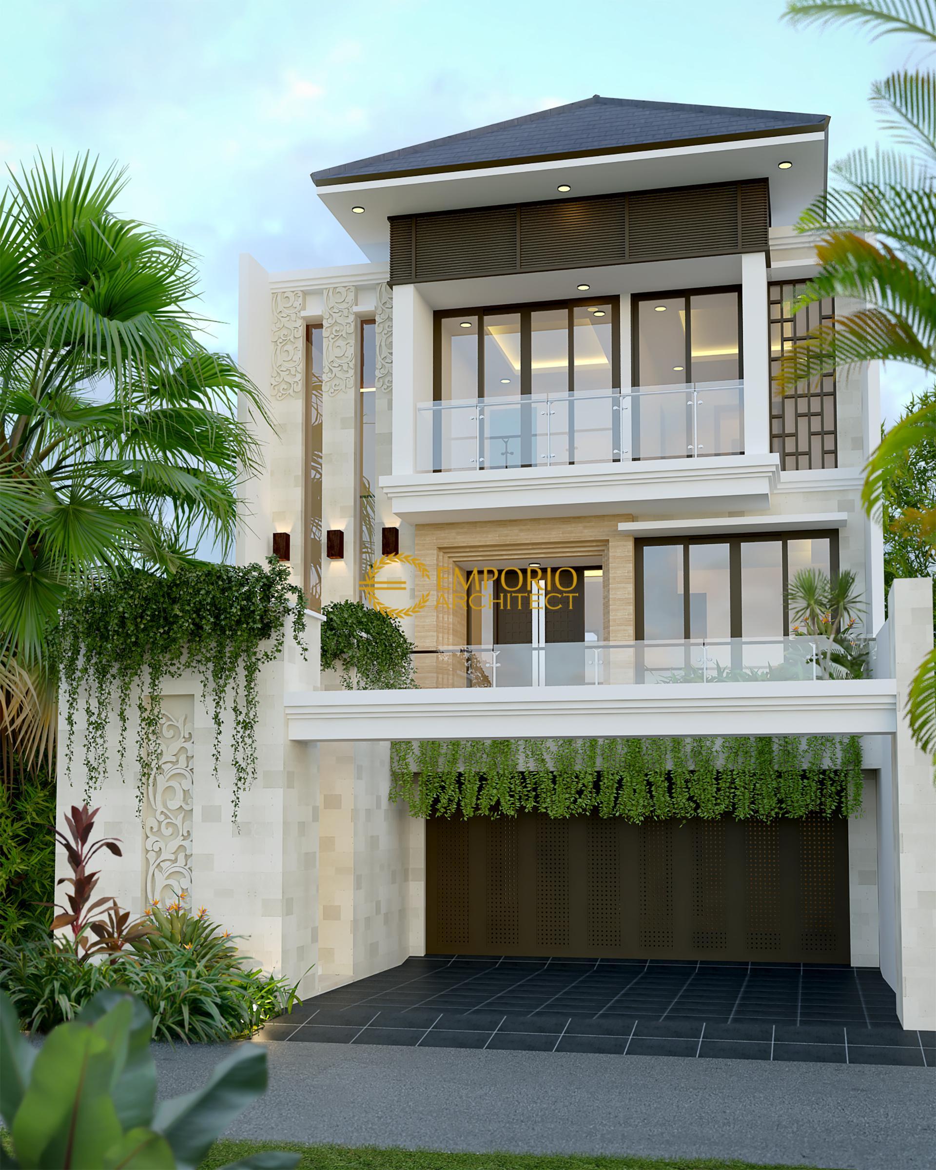 Desain Rumah Villa Bali 3 Lantai Bapak Suhendar di  Jakarta