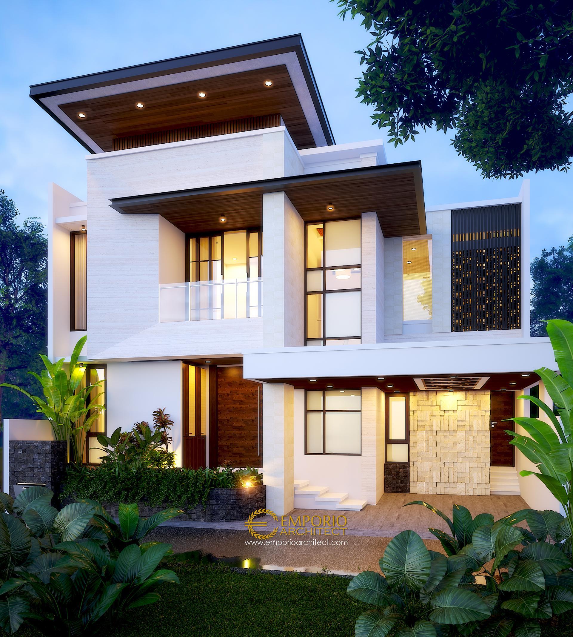 Desain Rumah Modern 2 Lantai Ibu Elsa di  Bekasi